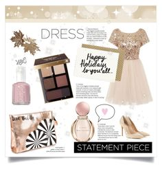"""""""Perfect Party Dress!!!"""" by kavyap ❤ liked on Polyvore featuring Bulgari, Chi Chi, Ashley Stewart, Essie, Bobbi Brown Cosmetics and Gianvito Rossi"""