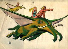 Early Hanna-Barbera Herculoids design by the great Alex Toth.