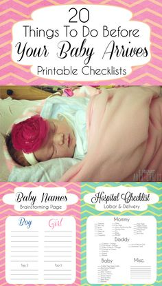 15 Things To Do Before Your Baby Arrives + Printable Checklists (( need to be prepared this time! ))