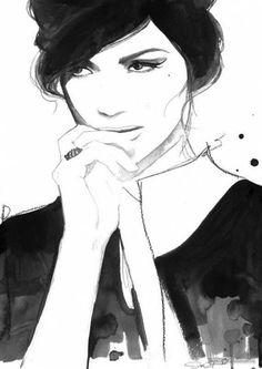 Джесика Дюрран (Jessica Durrant) занимается иллюстрацией профессионально и рисует в основном в стиле fashion и lifestyle