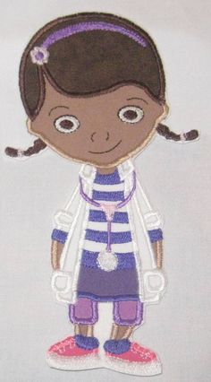Doc McStuffins Friends Hallie Stuffy Lambie Character DIY Iron On or Sew On Applique Patch. $13.99, via Etsy.