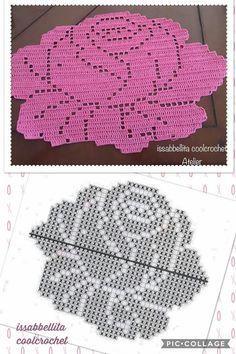 Watch The Video Splendid Crochet a Puff Flower Ideas. Phenomenal Crochet a Puff Flower Ideas. Filet Crochet, Crochet Diagram, Crochet Chart, Thread Crochet, Crochet Stitches, Blanket Crochet, Appliques Au Crochet, Crochet Flower Patterns, Crochet Designs