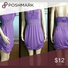 """NWT ... Paris Pink Midi Dress Summer is Here !  Here is a FUN Midi Dress for Any Occasion !  Silky Soft and has Pockets !  Color:  PURPLE  Spaghetti Straps Gathered Waist Very Giving & Stretchy Bunchy Sides for Added Curve Appeal Polyester Blend Pull Up & On.... (No Zippers nor Snaps) Soze Medium Fits Bust Size up to 36"""" Length:  Top Bust-line to Bottom Hem 29""""  NOTE:  XL Runs Small.  Fits like a """"Large"""". Paris Pink Dresses Midi"""