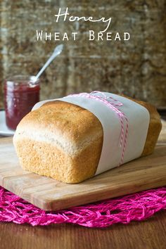 Honey Wheat Bread I on MyRecipeMagic.com This bread freezes well and stays soft.  It is lightly sweetened with honey and makes two loaves!