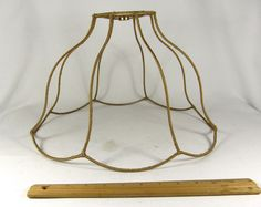 Lamp shade frame custom handmade out scallop wire rectangle design similar ideas lamp shade greentooth Image collections