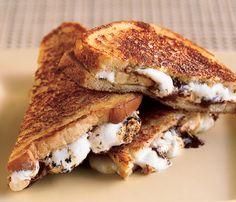 Caramelized Chocolate, Banana, and Marshmallow Sandwiches - Bon Appétit