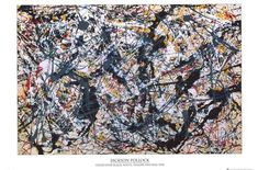 """A fantastic art poster of the Jackson Pollock painting """"Silver Over Black, White, Yellow, and Red"""" Fully licensed. Need Poster Mounts. Action Painting, Drip Painting, Painting Prints, Art Prints, Rock Painting, Jackson Pollock Art, Pollock Paintings, Framed Art, Wall Art"""