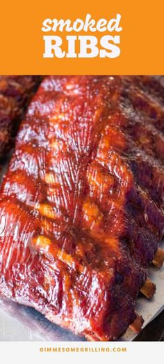 Smoked Ribs are so amazing and easy using the 3 2 1 Method! Step by step instruc. - Smoked Ribs are so amazing and easy using the 3 2 1 Method! Step by step instructions on making rib - Smoker Grill Recipes, Smoker Cooking, Barbecue Recipes, Grilling Recipes, Grilling Ideas, Tailgating Recipes, Traeger Recipes, Rib Recipes, Easy Dinner Recipes