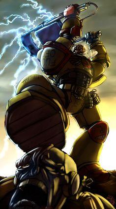 [40k] An Angry Marine and his powerchair. - Imgur