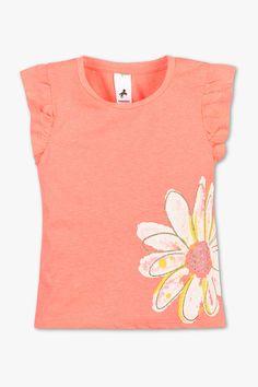 162c9883f6d Dzieci - Koszulka z krótkim rękawem – efekt połysku - pomarańczowy neonowy