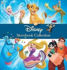 Storybook Collection: Disney Storybook Collection | The Lion King, Wreck It Ralph, The Princess and The Frog, Cinderella, Frozen, Robin Hood, 101 Dalmatians, Peter Pan, Mulan, Aladdin, Beauty and The Beast, Lady and The Tramp, Pinocchio, Lilo and Stitch, Sleeping Beauty, Tangled, The Little Mermaid, Snow White. USE AS AUTOGRAPH BOOK.