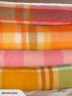 Gorgeous vintage wool blankets