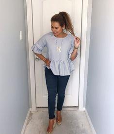 peplum stripe outfit