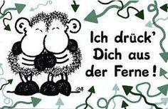 I press ' you from afar !  <3  Ich drück ' Dich aus  der Ferne !  <3