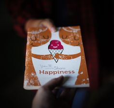 Happiness Series Sketchbook on Behance | In collaboration with Monkey Bread Store, they specialise in making notebooks. The books were screen printed & recycled paper were used. Photos by: Monkey Bread Store.