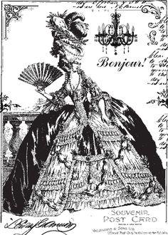 **FREE ViNTaGE DiGiTaL STaMPS**: FREE Vintage Digi Stamp - 18th Century French