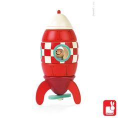 Prachtige houten puzzel van Janod om eindeloos me te spelen. Dit kleinere broertje van de speelgoed topper, maakt net zo mooie ruimtereizen en kan ook pronken in de kinderkamer. Wat een leuk kraamcadeau! 1,5jr+