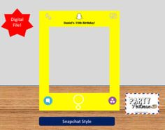 Custom Pink Snapchat Frame Photo Booth Prop by ThePartyPostman