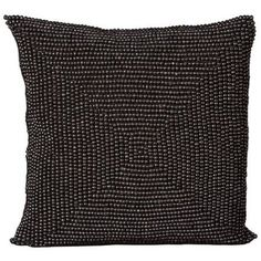 Nourison Wood Beads Natural Decorative Throw Pillow, Black