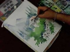 Landscape with Watercolors by Artist Sikander Singh Chandigarh