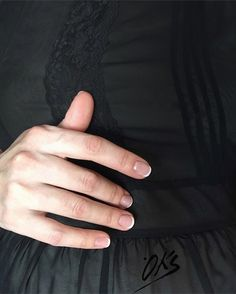 Black and French nails