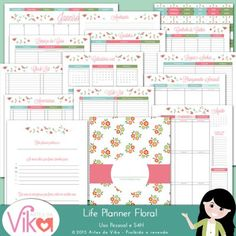 Life Planner 2016 Floral by Vika Matos