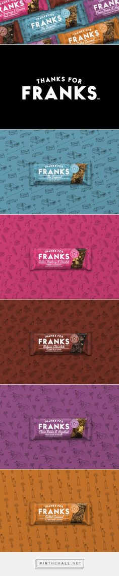 Thanks for Franks Granola Bar packaging design by The Collaborators (UK) - http://www.packagingoftheworld.com/2016/09/thanks-for-franks.html