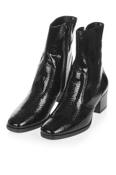 Marc Snake Ankle Boots in Black (TopShop)