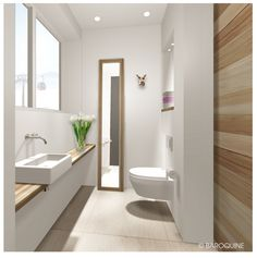 Tiny guest toilet – perfectly used place idea - New Deko Sites Interior, Guest Bathroom, Guest Toilet, Small Bathroom, Modern Bathroom, Bathroom Decor, Beautiful Bathrooms, Bathroom Redo, Bathroom Inspiration