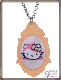 Hello Kitty Cameo Necklace features a head portrait cameo