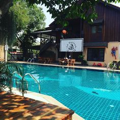 Nice spot for a morning coffee... wish the food were as good as the view though ;) #vientiane #laos #lepatitoh #swim #cafe #morning #eatdrinklaos   Eat Drink Laos http://eatdrinklaos.com