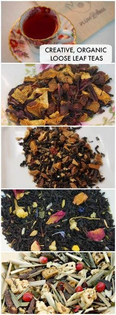 Plum Deluxe creative, fair trade, organic loose leaf #tea.  Elegant signature blends and lots of seasonal teas too - yum! Great for gifts too.