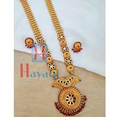 1 Gram Long Necklace 1 Gram Gold Jewellery, Temple Jewellery, Gold Jewelry, Necklace Set, Crochet Necklace, Bangles, Pendants, Engagement, Chain