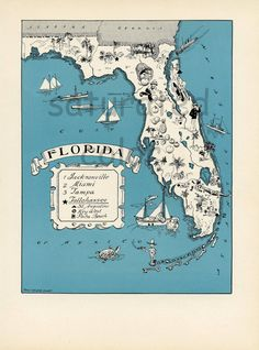 Florida map - $5.50 for image