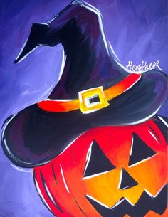 painting ideas canvas painting ideas for 10 year olds Halloween Canvas Paintings, Fall Canvas Painting, Halloween Painting, Halloween Drawings, Autumn Painting, Autumn Art, Halloween Art, Canvas Art, Happy Halloween