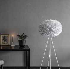 This large grey feather light shade Vita EOS is a beautiful shade. Make an impact in any space with this handcrafted, goose feather lamp shade. Lamp Shade, Brown Floor Lamps, Feather Light Shade, Lamp, Light Shades, Floor Lamp, Feather Lamp, Gray Bedroom, Grey Headboard