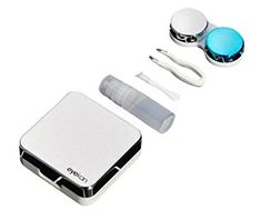 Silver Small Plastic Contact Lens Case Container