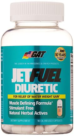 GAT Jetfuel Diuretic, Stimulant Free Muscle Defining Weight Loss Formula, 90 Capsules *** Trust me, this is great! Click the image. : Weight loss Diuretics
