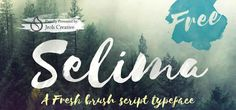15 Beautifully Imperfect Free Brush Fonts