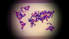 Diy world map made out of buttons