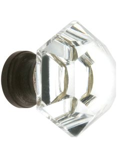 Cabinet Knobs. Hexagonal Cut Crystal Knob With Solid Brass Base, houseofantiquehardware.com, $10.99