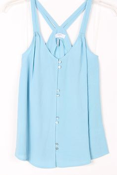 Casual Haley Top in Dust Blue
