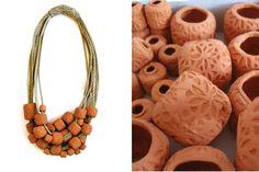 Collier * Willemijn de Greef (corde de chanvre, céramique)