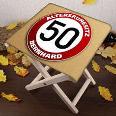 Klapphocker   mit Namen zum 50. Geburtstag   geschenke-online.de