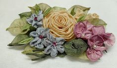 French Hand dyed Ribbonwork Millinery Ribbon Flowers
