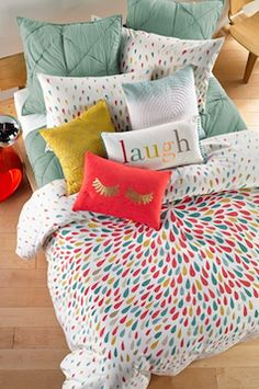 Vibrant colorful bedding