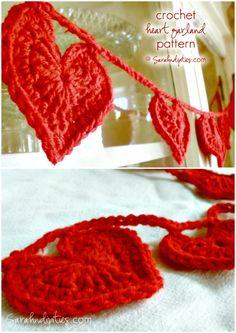 Free Crochet Heart Garland Pattern -  Crochet Garland Pattern - 73 Free Crochet Garland Ideas - DIY & Crafts