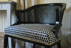 The Chronicles of Home: Cane Chair Reborn - another really useful tutorial.  Love the nailhead trim and double pipe welting.