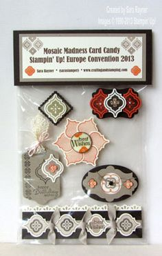 Mosaic Madness card candy pack - Stampin' Up!