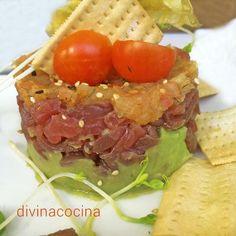 tartar-de-atun-francisco-conil Tuna, Salmon, Mexican, Beef, Fish, Ethnic Recipes, Ideas, Tuna Tartar, Kitchens